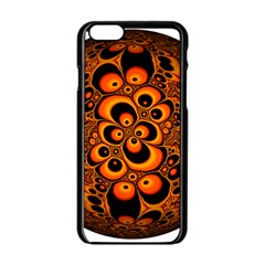 Fractals Ball About Abstract Apple iPhone 6/6S Black Enamel Case