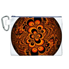 Fractals Ball About Abstract Canvas Cosmetic Bag (XL)