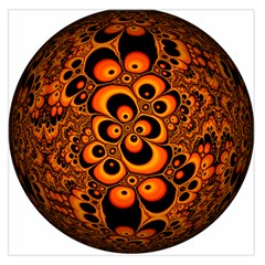 Fractals Ball About Abstract Large Satin Scarf (Square)