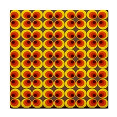 Seventies Hippie Psychedelic Circle Tile Coasters