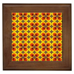 Seventies Hippie Psychedelic Circle Framed Tiles