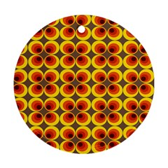 Seventies Hippie Psychedelic Circle Ornament (Round)