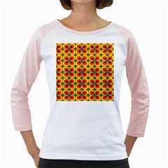 Seventies Hippie Psychedelic Circle Girly Raglans