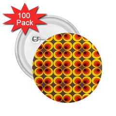 Seventies Hippie Psychedelic Circle 2.25  Buttons (100 pack)
