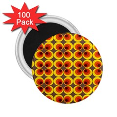 Seventies Hippie Psychedelic Circle 2.25  Magnets (100 pack)