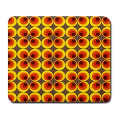 Seventies Hippie Psychedelic Circle Large Mousepads