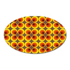 Seventies Hippie Psychedelic Circle Oval Magnet