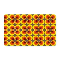 Seventies Hippie Psychedelic Circle Magnet (Rectangular)