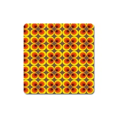 Seventies Hippie Psychedelic Circle Square Magnet