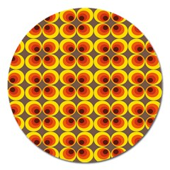 Seventies Hippie Psychedelic Circle Magnet 5  (Round)