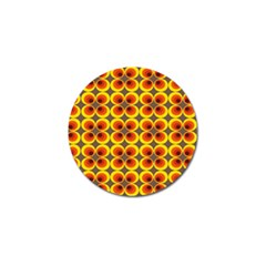 Seventies Hippie Psychedelic Circle Golf Ball Marker