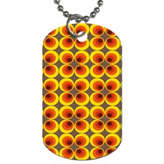 Seventies Hippie Psychedelic Circle Dog Tag (two Sides)