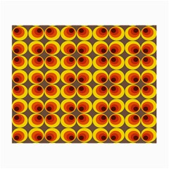 Seventies Hippie Psychedelic Circle Small Glasses Cloth