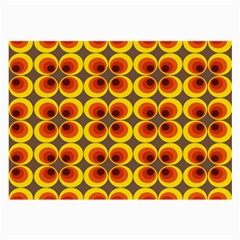 Seventies Hippie Psychedelic Circle Large Glasses Cloth (2-Side)