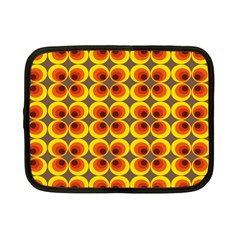 Seventies Hippie Psychedelic Circle Netbook Case (Small)