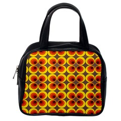 Seventies Hippie Psychedelic Circle Classic Handbags (one Side)