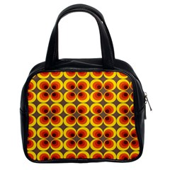 Seventies Hippie Psychedelic Circle Classic Handbags (2 Sides)