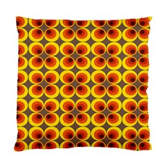 Seventies Hippie Psychedelic Circle Standard Cushion Case (Two Sides)