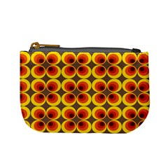 Seventies Hippie Psychedelic Circle Mini Coin Purses