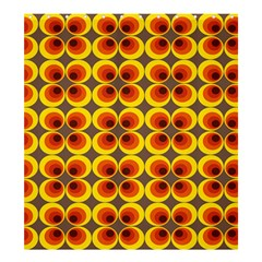 Seventies Hippie Psychedelic Circle Shower Curtain 66  x 72  (Large)
