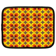 Seventies Hippie Psychedelic Circle Netbook Case (XXL)