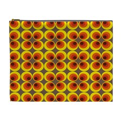Seventies Hippie Psychedelic Circle Cosmetic Bag (XL)