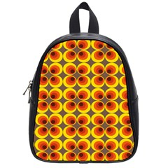 Seventies Hippie Psychedelic Circle School Bags (Small)