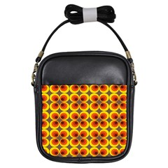Seventies Hippie Psychedelic Circle Girls Sling Bags