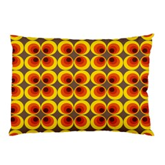 Seventies Hippie Psychedelic Circle Pillow Case (Two Sides)