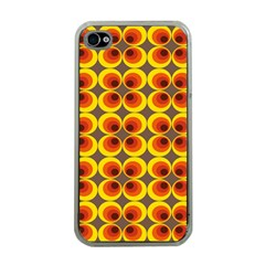 Seventies Hippie Psychedelic Circle Apple iPhone 4 Case (Clear)