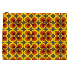 Seventies Hippie Psychedelic Circle Cosmetic Bag (XXL)