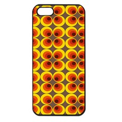 Seventies Hippie Psychedelic Circle Apple iPhone 5 Seamless Case (Black)