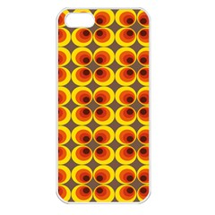 Seventies Hippie Psychedelic Circle Apple iPhone 5 Seamless Case (White)