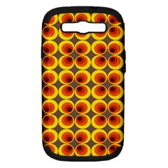 Seventies Hippie Psychedelic Circle Samsung Galaxy S Iii Hardshell Case (pc+silicone)