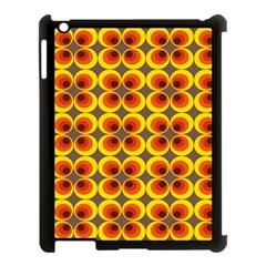 Seventies Hippie Psychedelic Circle Apple iPad 3/4 Case (Black)