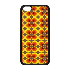 Seventies Hippie Psychedelic Circle Apple iPhone 5C Seamless Case (Black)