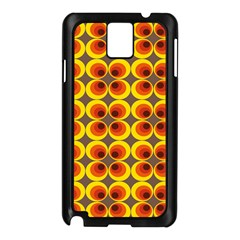 Seventies Hippie Psychedelic Circle Samsung Galaxy Note 3 N9005 Case (Black)