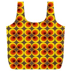 Seventies Hippie Psychedelic Circle Full Print Recycle Bags (L)