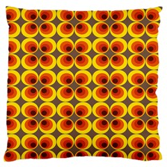 Seventies Hippie Psychedelic Circle Large Flano Cushion Case (Two Sides)