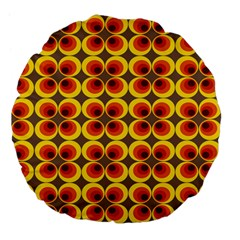Seventies Hippie Psychedelic Circle Large 18  Premium Flano Round Cushions