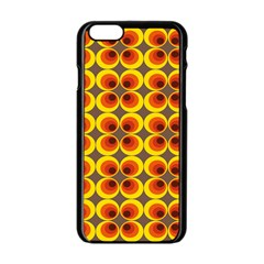 Seventies Hippie Psychedelic Circle Apple iPhone 6/6S Black Enamel Case