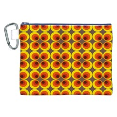 Seventies Hippie Psychedelic Circle Canvas Cosmetic Bag (XXL)