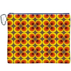 Seventies Hippie Psychedelic Circle Canvas Cosmetic Bag (XXXL)