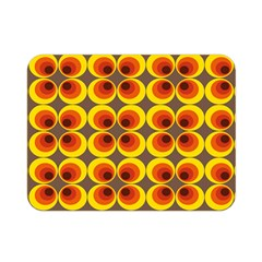 Seventies Hippie Psychedelic Circle Double Sided Flano Blanket (Mini)