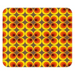 Seventies Hippie Psychedelic Circle Double Sided Flano Blanket (Small)