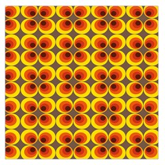 Seventies Hippie Psychedelic Circle Large Satin Scarf (Square)
