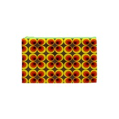 Seventies Hippie Psychedelic Circle Cosmetic Bag (xs)