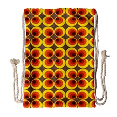 Seventies Hippie Psychedelic Circle Drawstring Bag (Large)