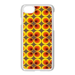 Seventies Hippie Psychedelic Circle Apple Iphone 7 Seamless Case (white)