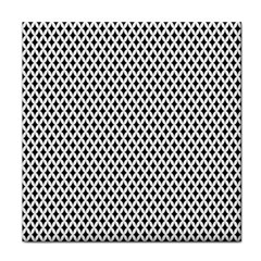 Diamond Black White Shape Abstract Tile Coasters